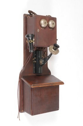 WESTERN ELECTRIC OAK CRANK WALL PHONE