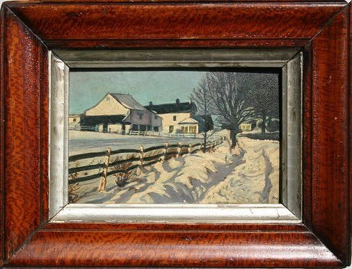 5: IMPRESSIONIST WINTER PAINTING SIGNED