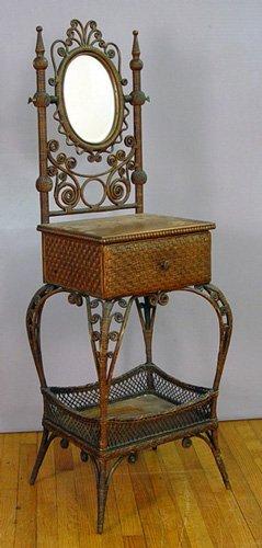 6: WAKEFIELD WICKER DRESSING TABLE CA 1880-1890
