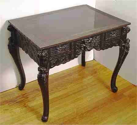 13: CARVED CHINESE DESK