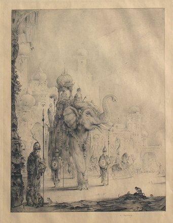 18: E.J. DETMOLD ORIENTALIST ETCHING