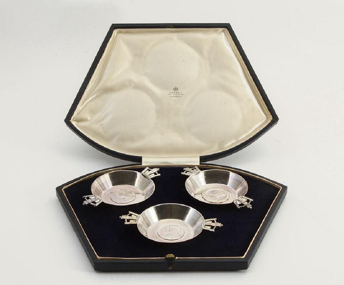ASPREY ENGLISH STERLING 1937 CORONATION CUPS