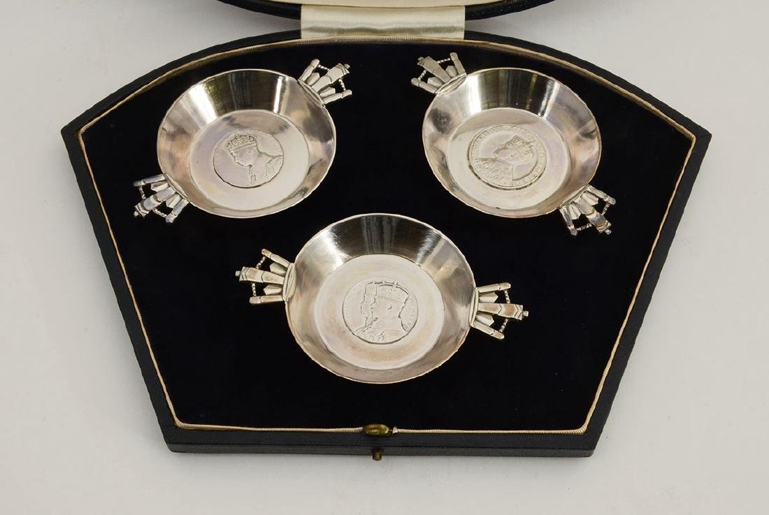 ASPREY ENGLISH STERLING 1937 CORONATION CUPS - 2