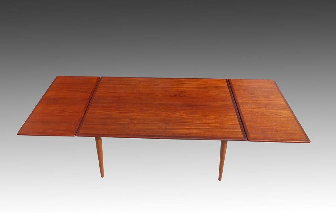HANS WEGNER AT312 TEAK TABLE FOR ANDREAS TUCK