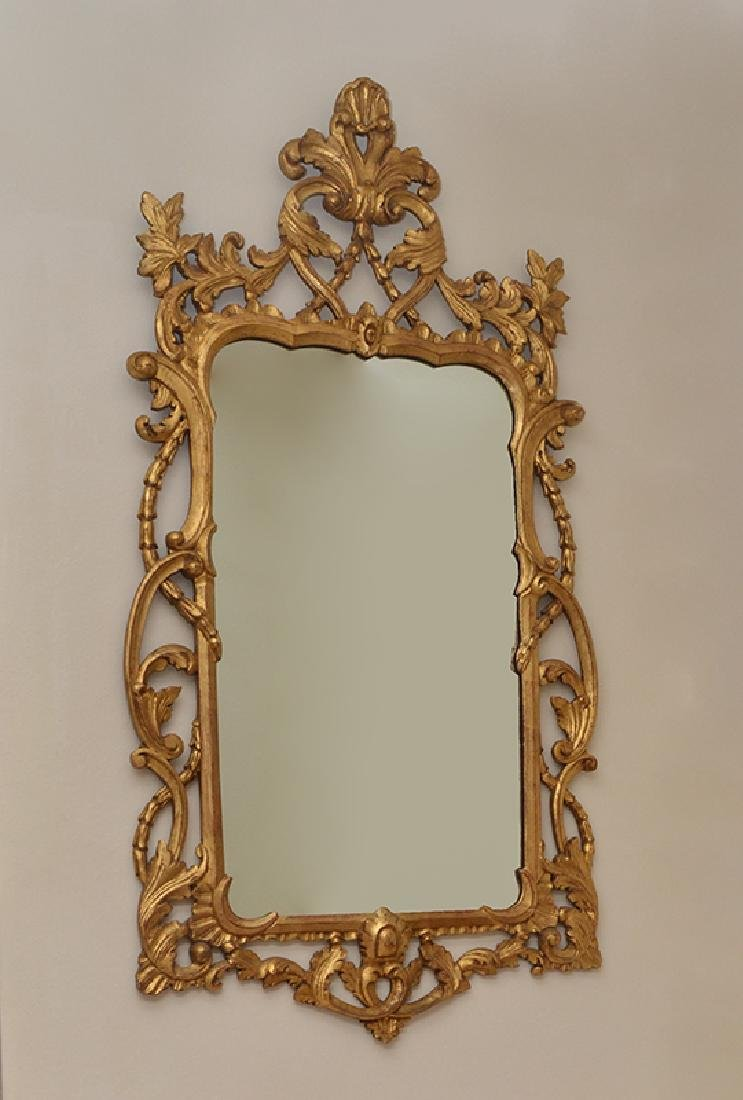 LABARGE CARVED GILT WOOD ROCOCO STYLE MIRROR
