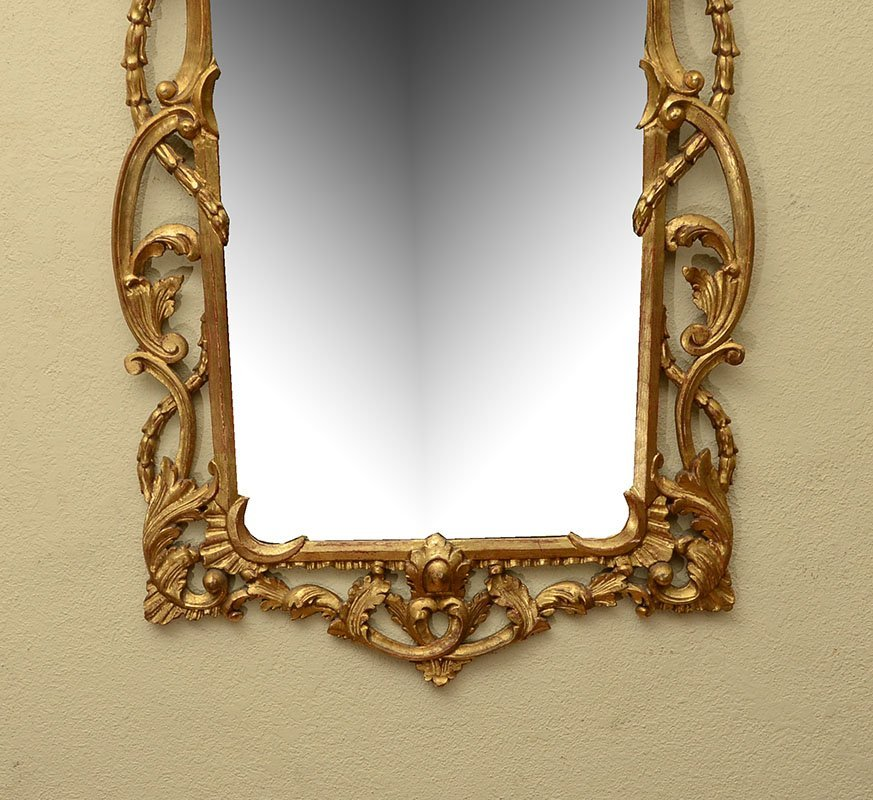 LABARGE CARVED GILT WOOD ROCOCO STYLE MIRROR - 3