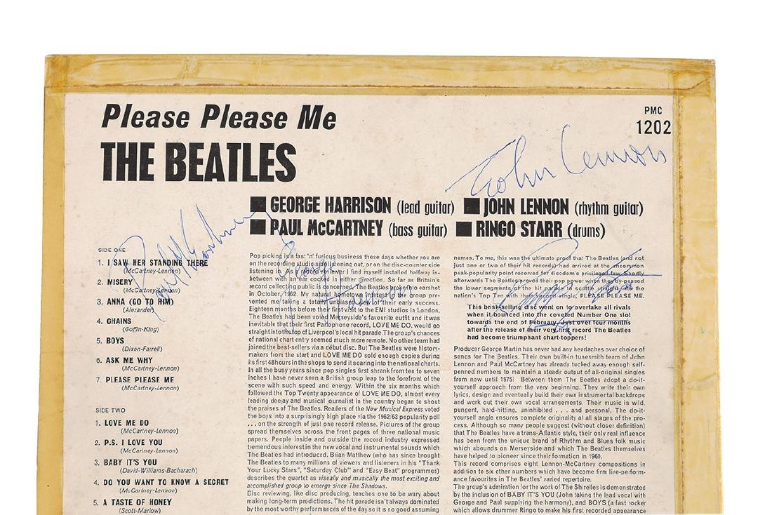 ASPINALL SIGNED BEATLES PLEASE PLEASE ME ALBUM