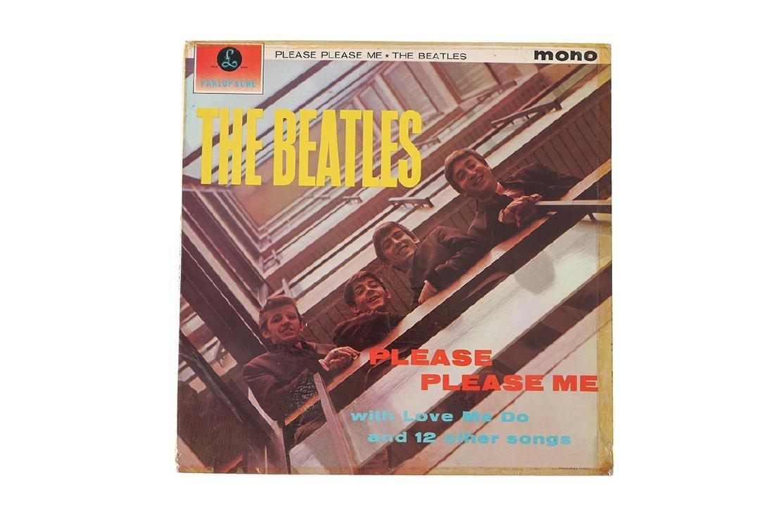 ASPINALL SIGNED BEATLES PLEASE PLEASE ME ALBUM - 2