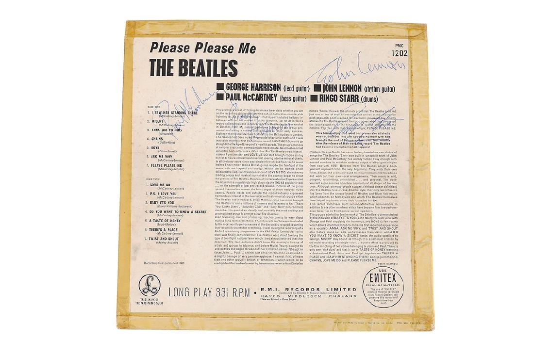ASPINALL SIGNED BEATLES PLEASE PLEASE ME ALBUM - 3