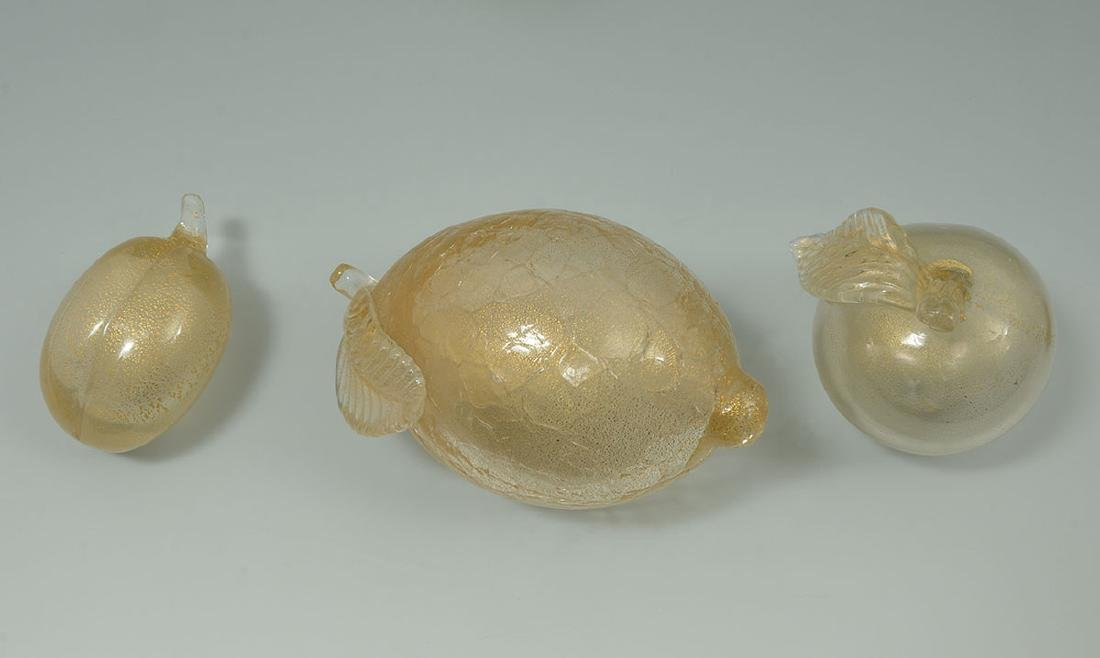 COLLECTION OF MURANO GLASS FRUIT, BOWL & FIGURE - 4