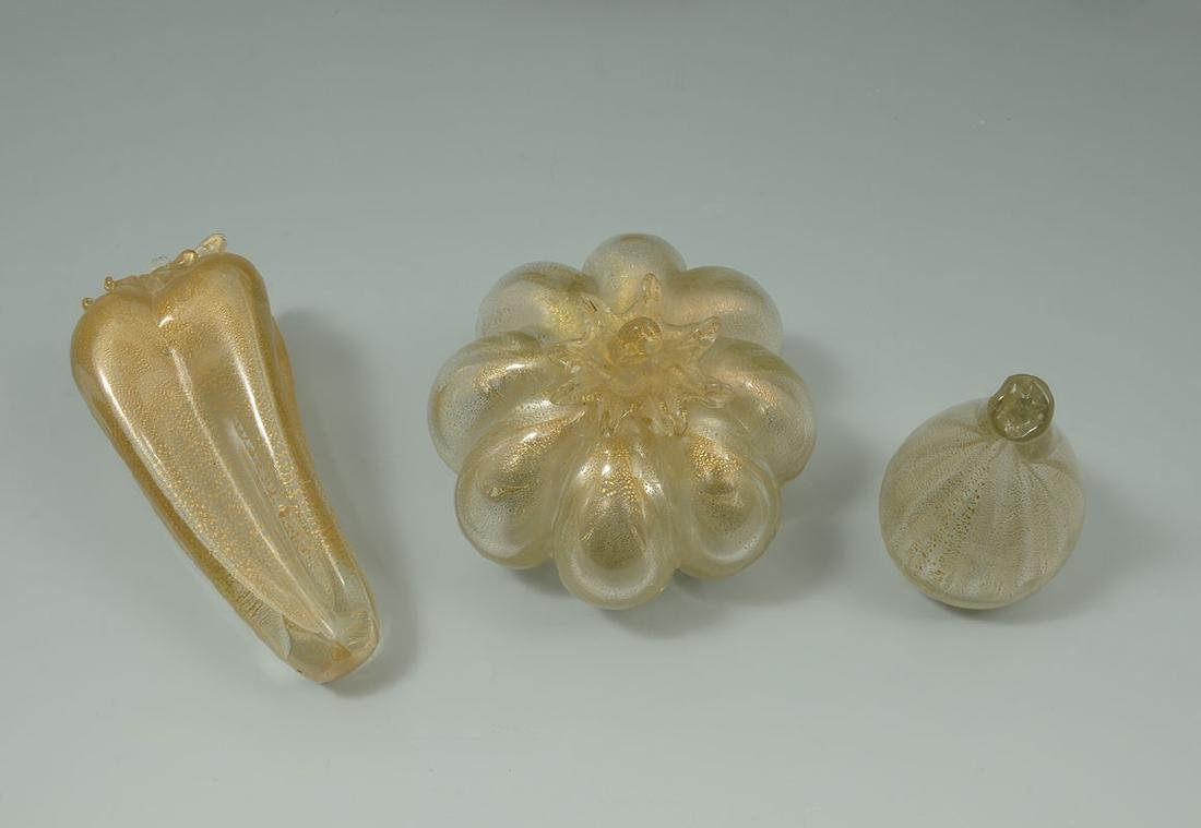 COLLECTION OF MURANO GLASS FRUIT, BOWL & FIGURE - 5