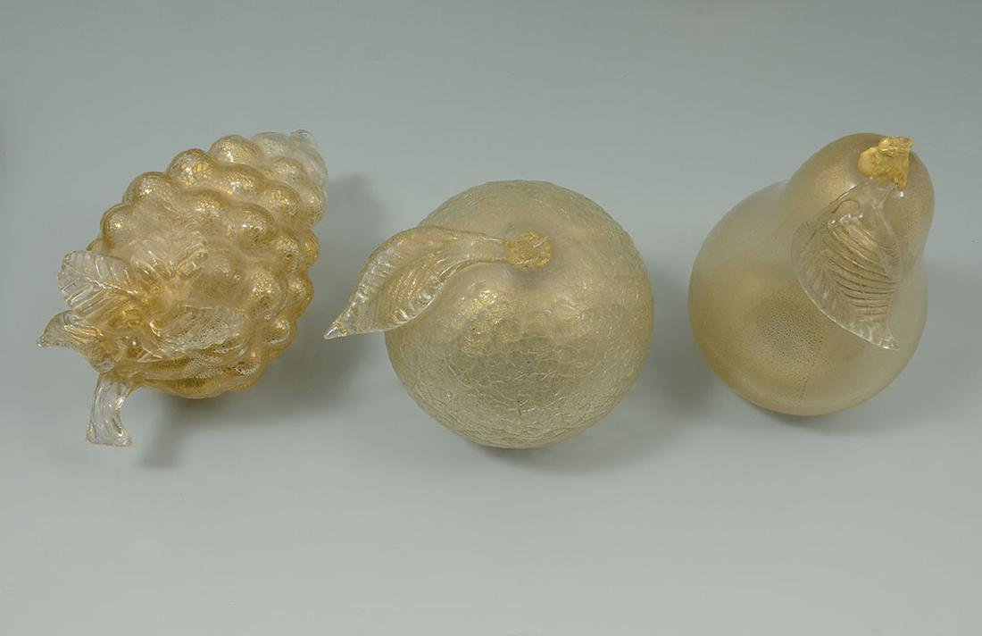 COLLECTION OF MURANO GLASS FRUIT, BOWL & FIGURE - 6