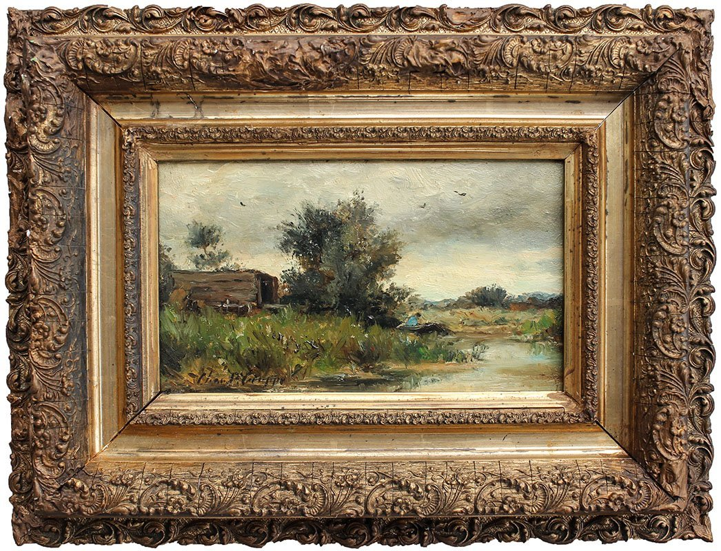 CHARLES GRUPPE RIVER LANDSCAPE PAINTING - 2