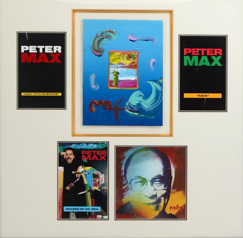 PETER MAX MIXED MEDIA COLLAGE