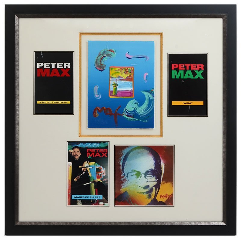 PETER MAX MIXED MEDIA COLLAGE - 2