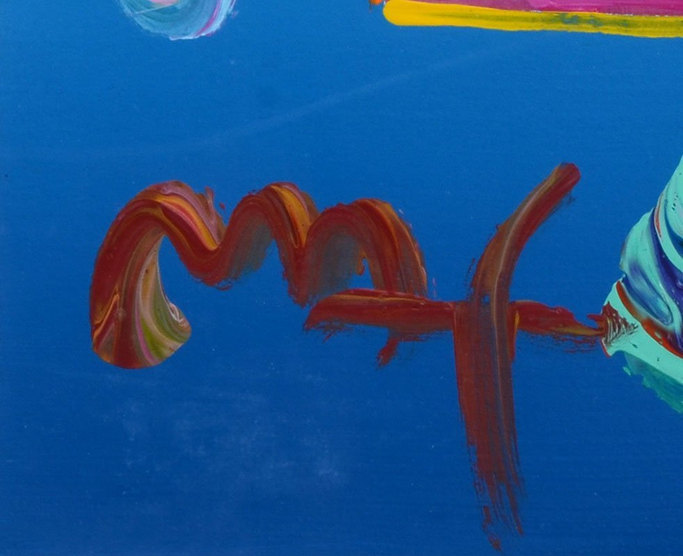 PETER MAX MIXED MEDIA COLLAGE - 3