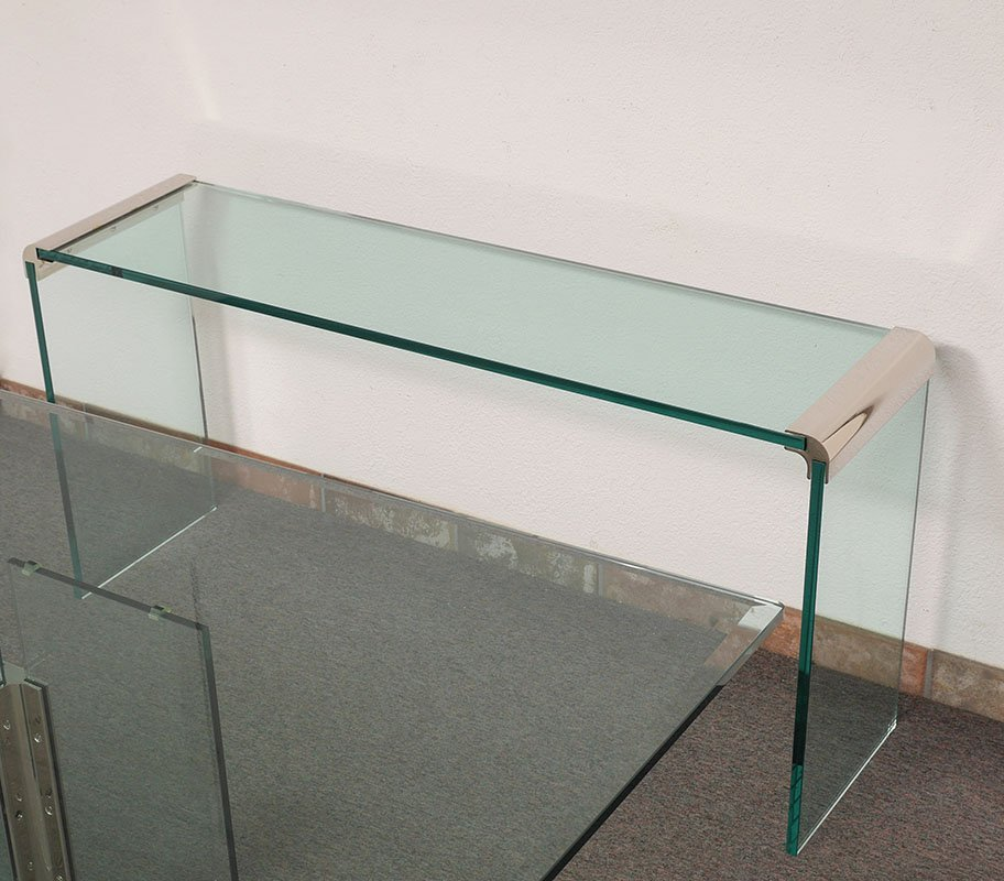PACE FURNITURE GLASS CONSOLE TABLE