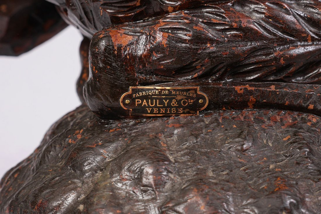 PAULY & CIE ITALIAN CARVED FIGURAL PHOENIX CHAIR - 7