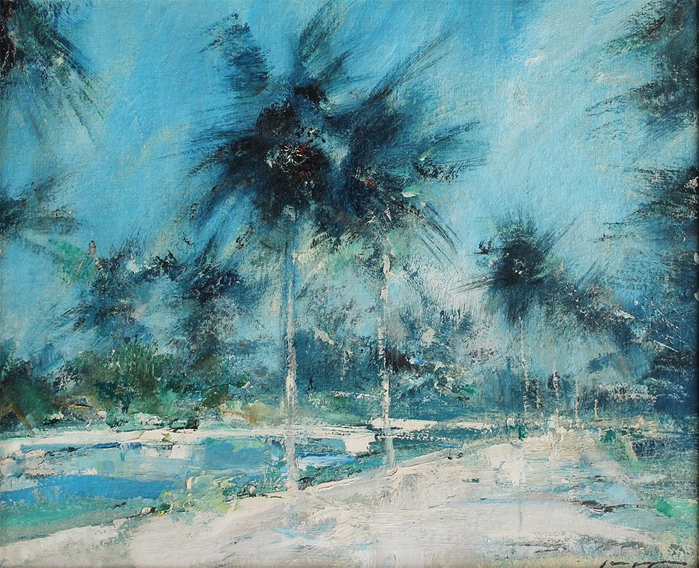 CHARLES GRUPPE TROPICAL PAINTING
