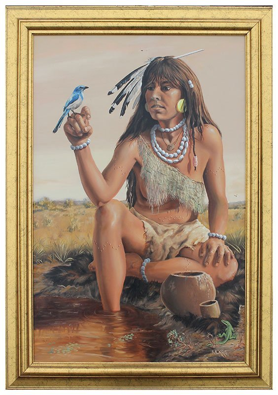 THEODORE MORRIS TOCOBAGA INDIAN PAINTING - 2