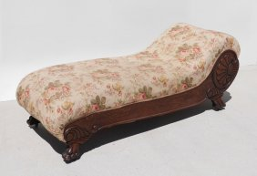 VICTORIAN CARVED OAK FAINTING COUCH