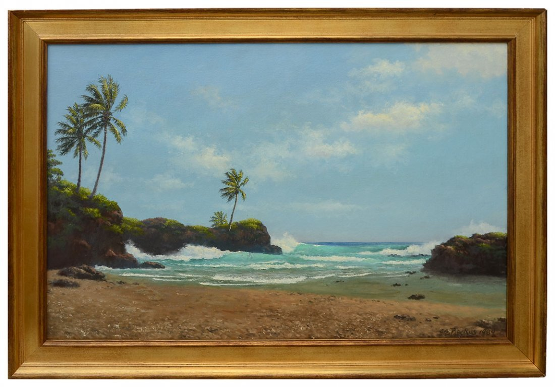 "A.E. ""BEANIE"" BACKUS BEACH PAINTING - 2"