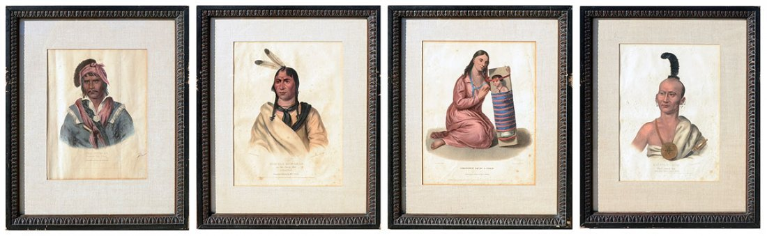 FOUR MCKENNEY & HALL INDIAN PRINTS