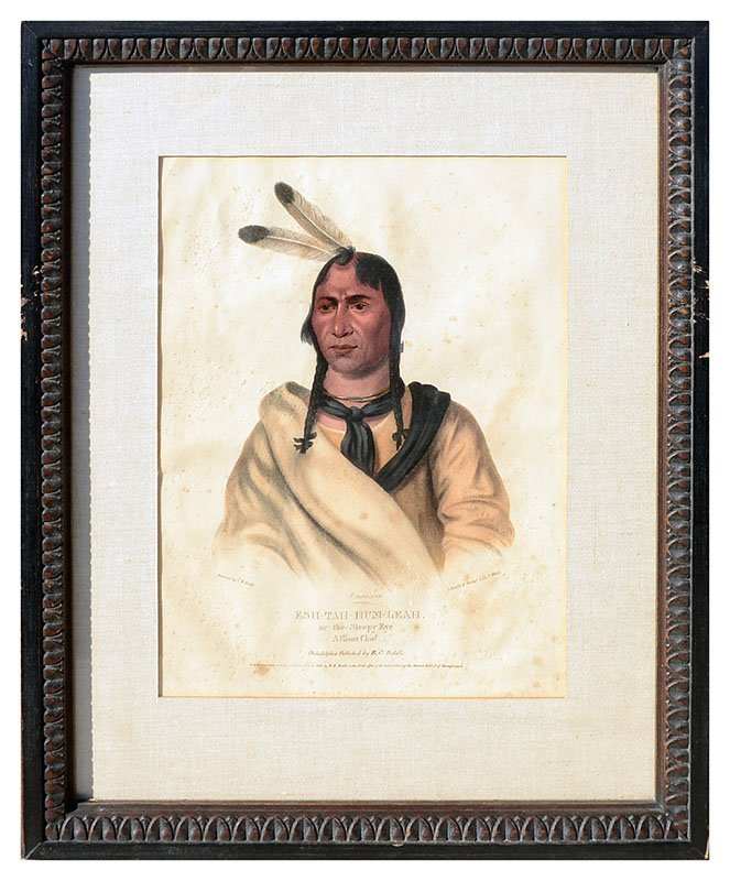 FOUR MCKENNEY & HALL INDIAN PRINTS - 4