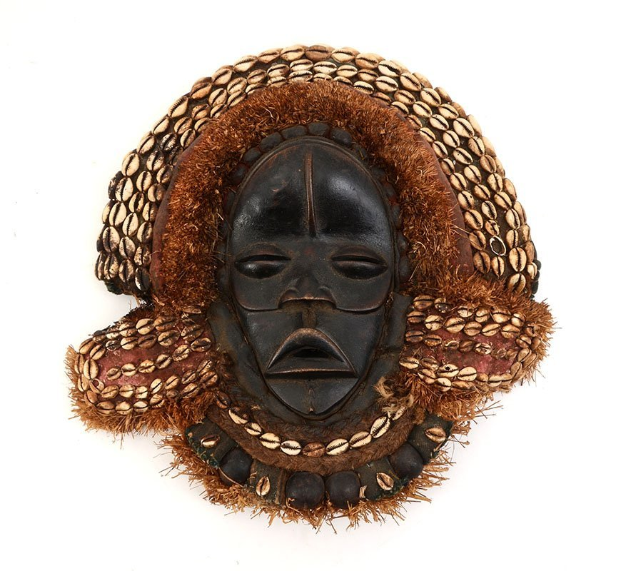 DAN TRIBE COWRIE SHELL AFRICAN MASK