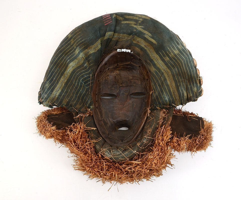 DAN TRIBE COWRIE SHELL AFRICAN MASK - 2