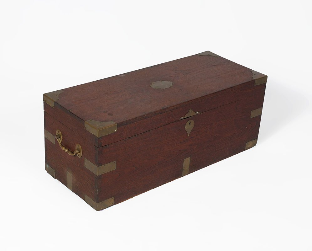 19TH CENTURY CAMPHOR WOOD SEA CAPTAINS CHEST