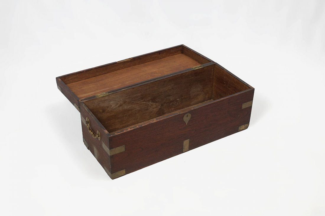 19TH CENTURY CAMPHOR WOOD SEA CAPTAINS CHEST - 2
