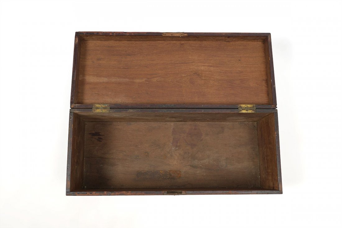 19TH CENTURY CAMPHOR WOOD SEA CAPTAINS CHEST - 3