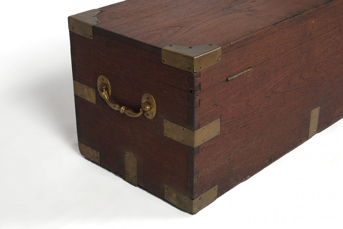19TH CENTURY CAMPHOR WOOD SEA CAPTAINS CHEST - 4