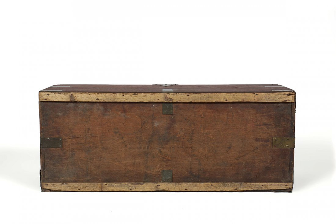 19TH CENTURY CAMPHOR WOOD SEA CAPTAINS CHEST - 7