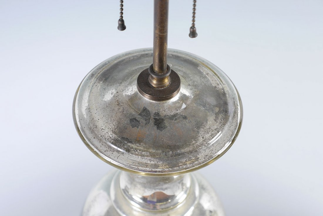 PAIR OF MERCURY GLASS TABLE LAMPS - 4