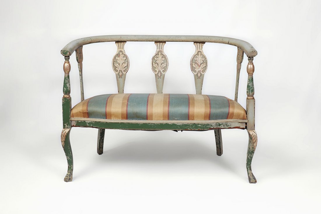 PAINT DECORATED SETTEE - 2