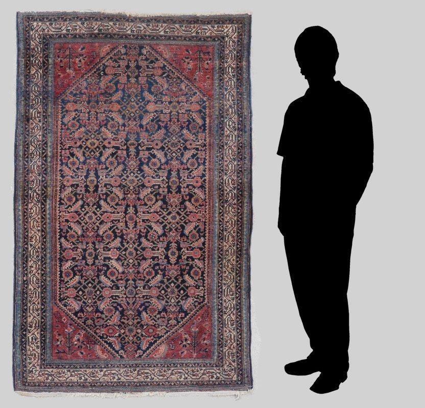 "PERSIAN KURD SERAB HK WOOL RUG, 4'4"" x 6'2"""