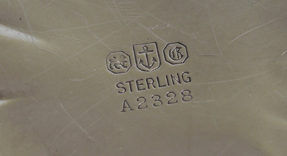 GORHAM STERLING LOW SERVING BOWL - 5