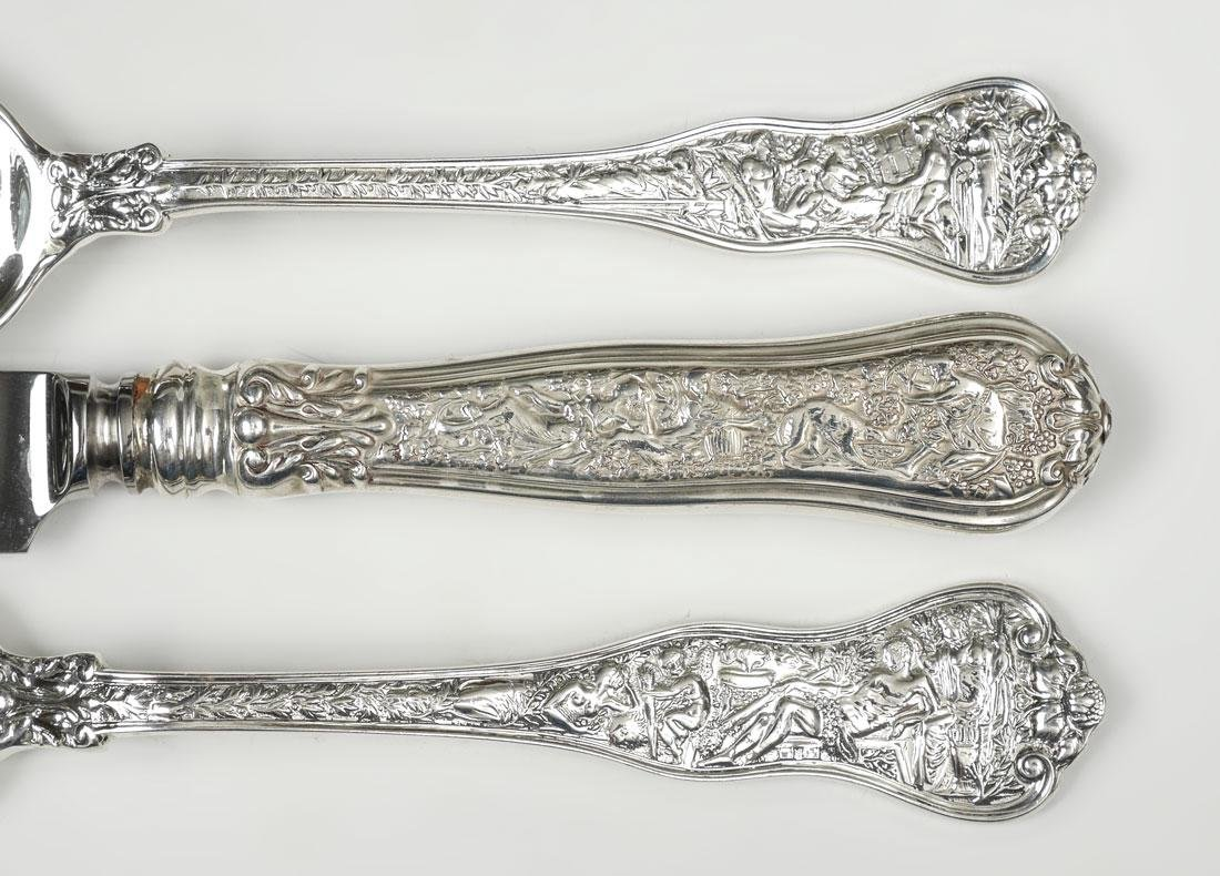 TIFFANY OLYMPIAN STERLING FLATWARE SERVICE FOR 8
