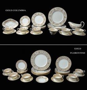 WEDGWOOD GOLD FLORENTINE & GOLD COLUMBIA CHINA