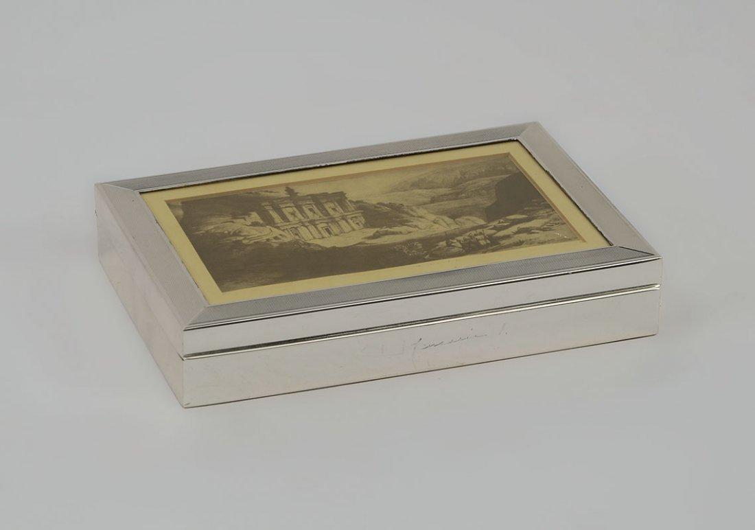 KING OF JORDAN STERLING PRESENTATION HUMIDOR / BOX