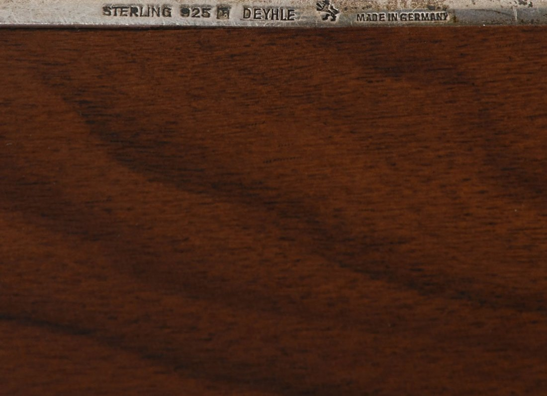 KING OF JORDAN STERLING PRESENTATION HUMIDOR / BOX - 4