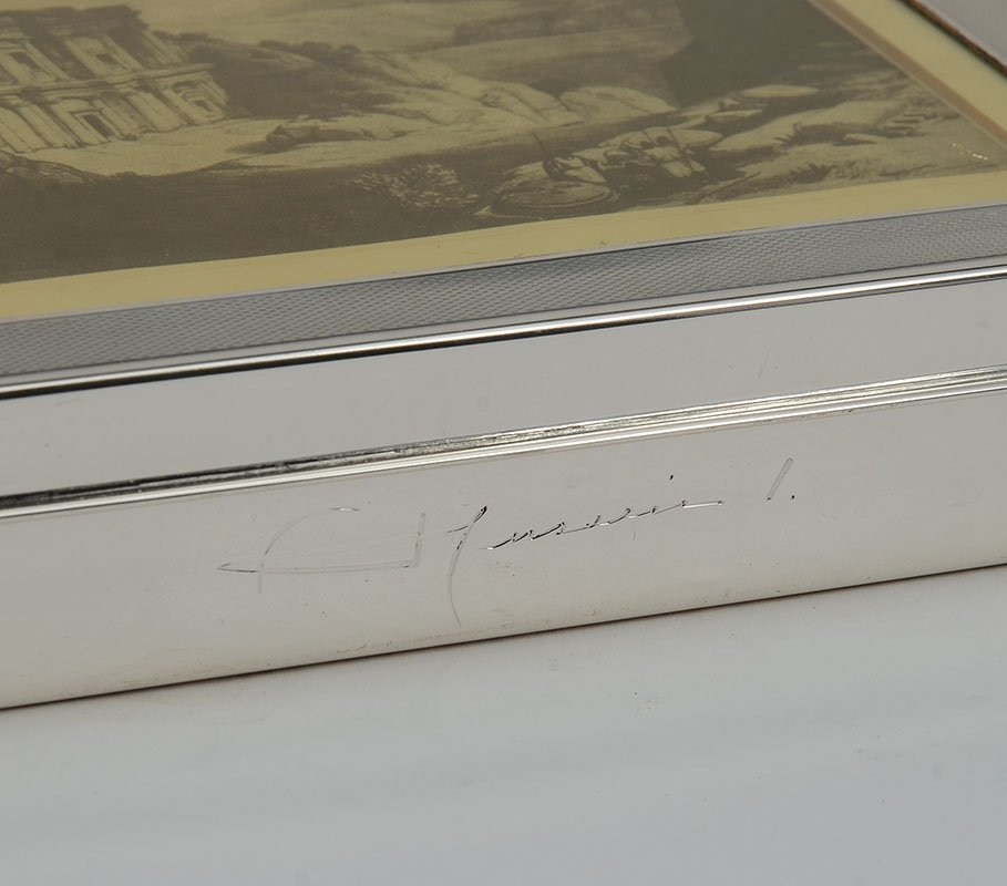 KING OF JORDAN STERLING PRESENTATION HUMIDOR / BOX - 5