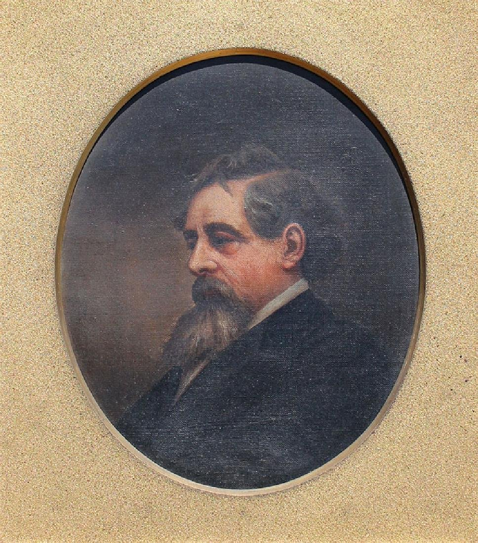PORTRAIT PAINTING OF CHARLES DICKENS BY HORACE JOHNSON