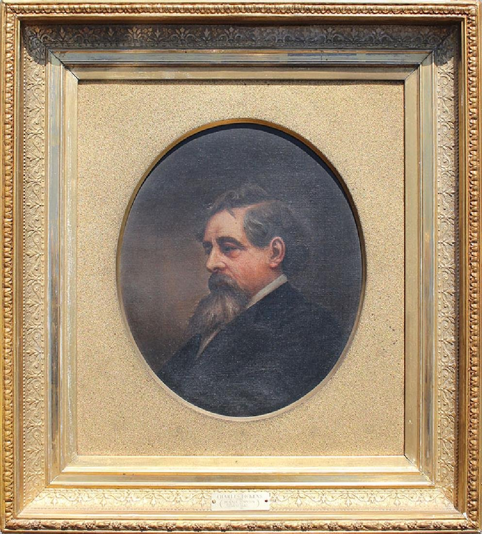 PORTRAIT PAINTING OF CHARLES DICKENS BY HORACE JOHNSON - 2