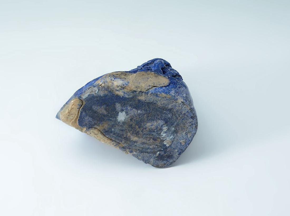 CHINESE CARVED LAPIS LAZULI SCHOLARS MOUNTAIN - 5