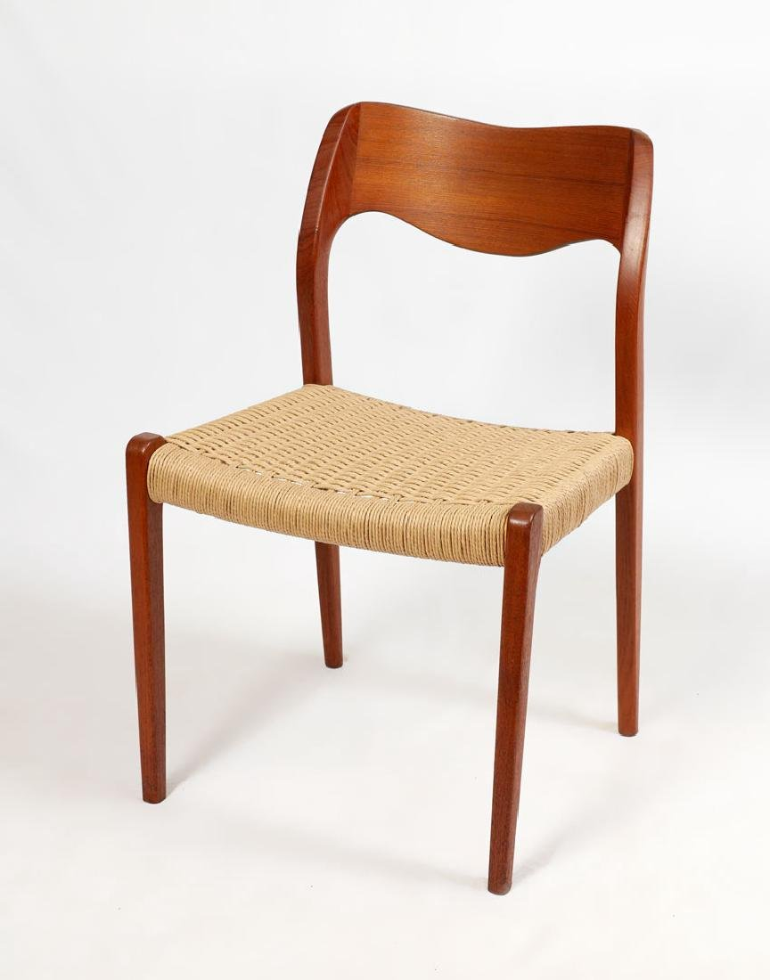 4 NIELS MOLLER MODEL 71 DANISH DINING CHAIRS - 2