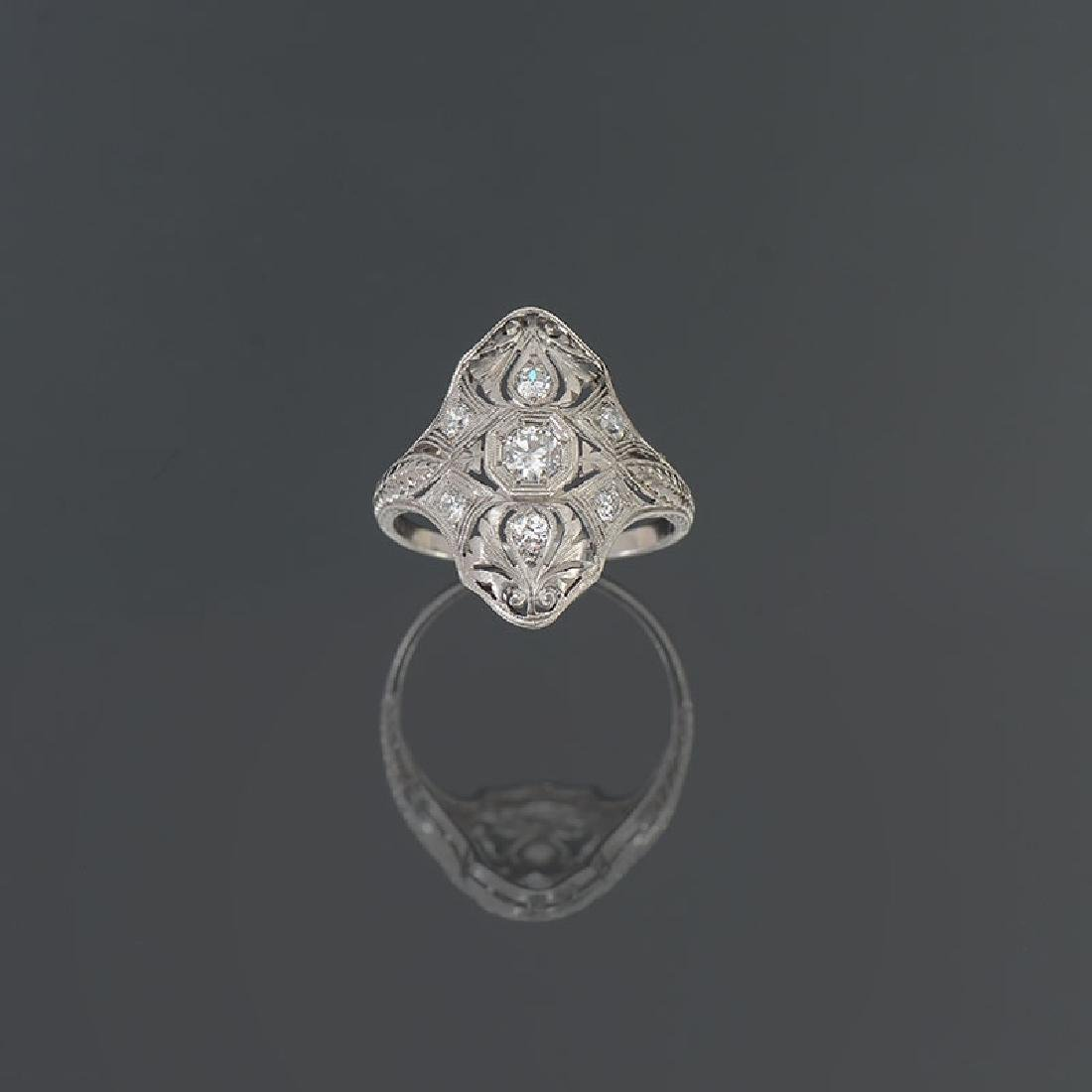 PLATINUM EDWARDIAN DIAMOND DINNER RING