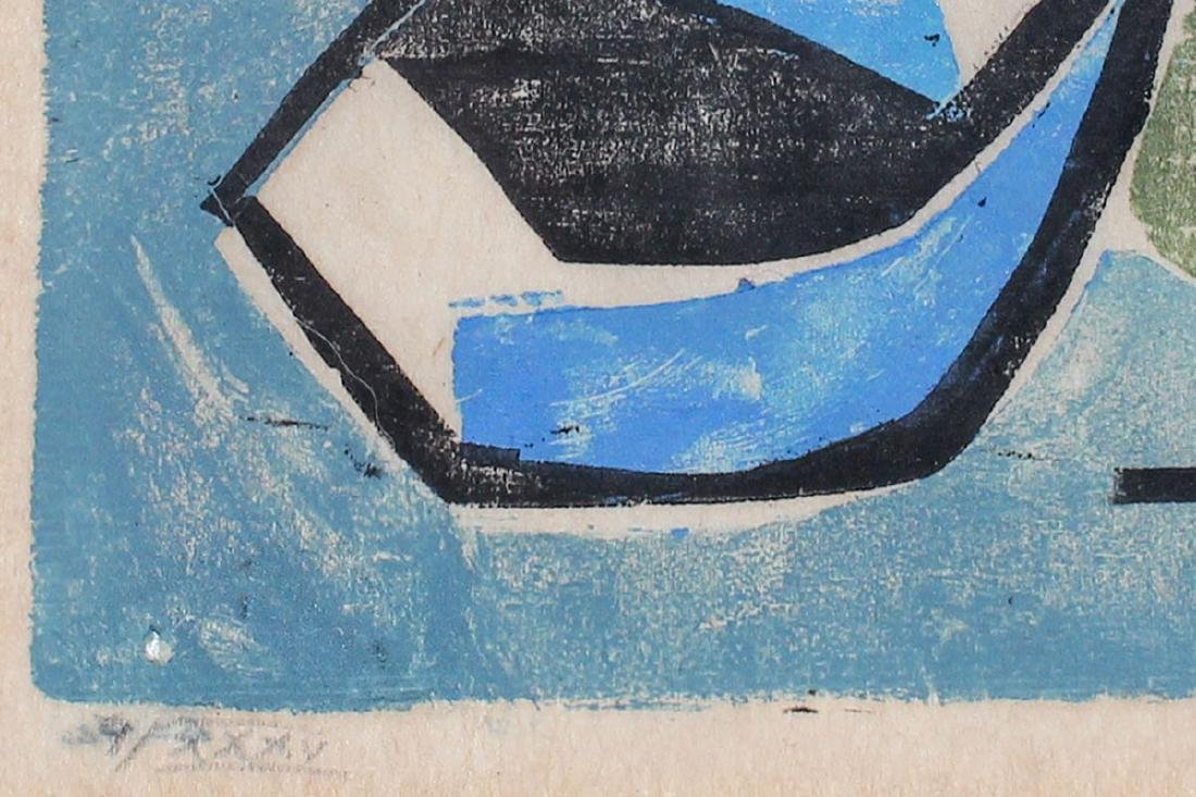 WERNER DREWES WOOCUT ''INNER TROPICAL SEAS'' 1944 - 3